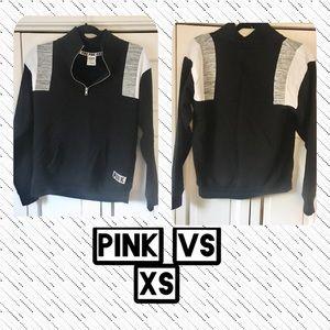 VICTORIAS SECRET PINK Xs 1/2 zip sweatshirt